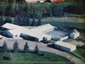 Club Mead Pet Resort aerial view of yard Nisku Alberta